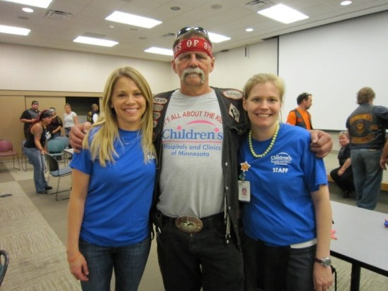 "Run organizer Robert ""Rebel"" Laughter with Lauren Wallerius and Briana Oakes"
