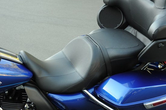 "The forward-positioned seat drops Low owners to a manageable 25.6"" seat height"