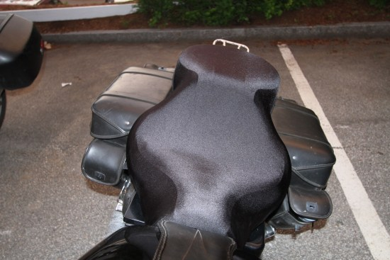 "The SplitWeight ""B"" cover needed to be stretched over the Mustang seat on my FXD, and using the hook-and-loop straps was a necessity even when the bike was parked"