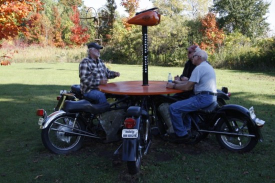 Cool sculptures and benches make for a fun time at the Wisconsin Motorcycle Memorial (www.wimotorcyclememorial.org)