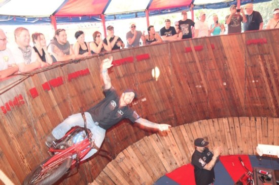 California Hell Riders wowed the crowd at the Iron Horse Saloon with their trick riding inside the Wall of Death