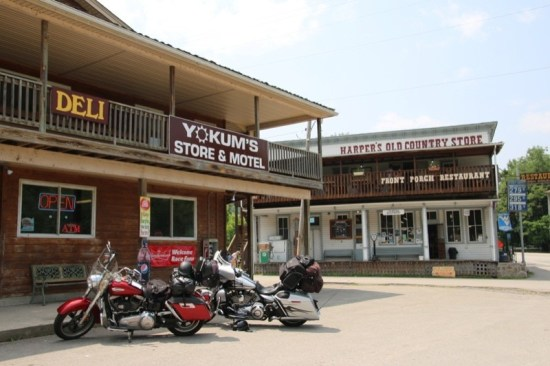 If your ride takes you to Seneca Rocks, stop at the Front Porch Restaurant for their delicious peach cobbler