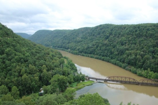 The overlook at Hawks Nest State Park offered panoramic views of the New River Gorge