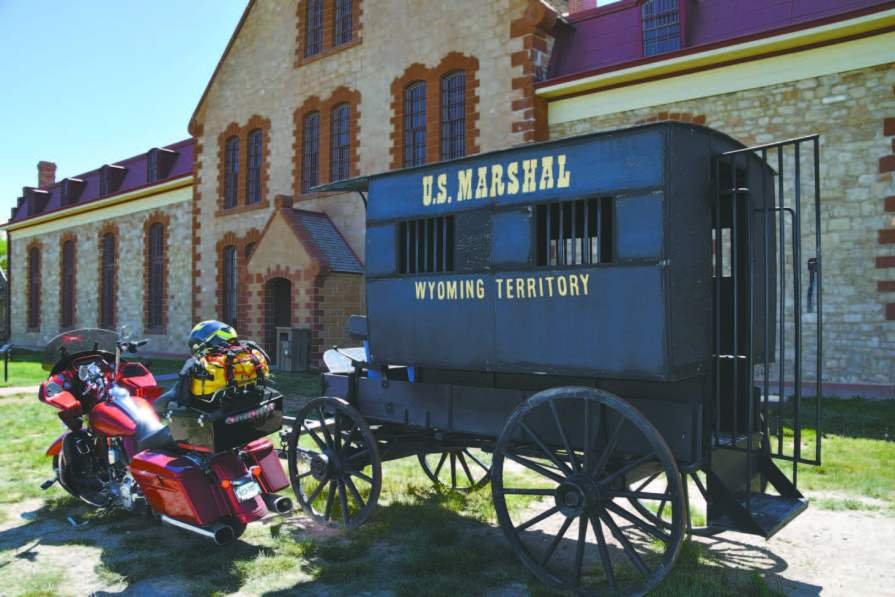 Prisoner wagon at the old Wyoming Territorial Prison
