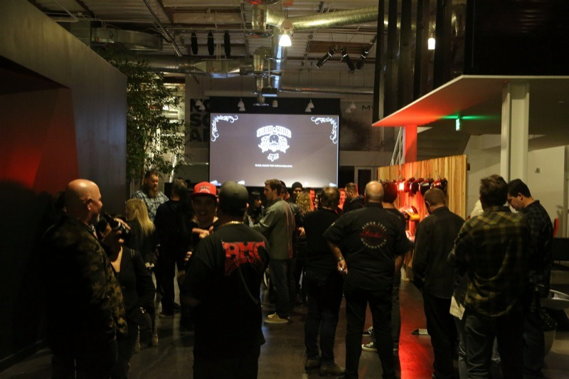 Guests enjoyed food and drinks while checking out the cool works on display at Fox headquarters in Irvine, California