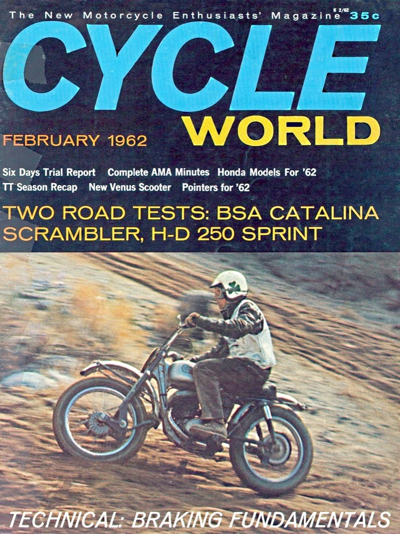 Cycle World debuted with this issue in 1962 and shattered the complacency of what was then a very clubby and cozy little hobby. Once Joe Parkhurst's reality and integrity intruded into the writing and testing of machines and men, fans became far more sophisticated and learned, expectations grew and expanded… just in time for the arrival of the Japanese!