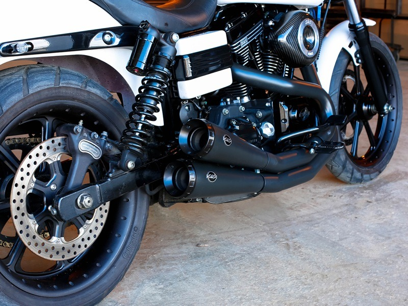 The Grand National exhaust is derived from the company's flat track racing mufflers