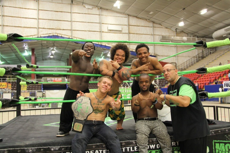 The Micro Championship Wrestling crew put on several rough and tumble fights on Friday and Saturday