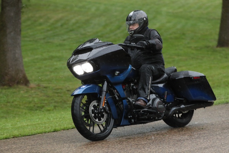 "A little rain must fall… even during a Harley Press Launch but… the 2019 CVO Road Glide sporting its 21"" front wheel was up to the task"