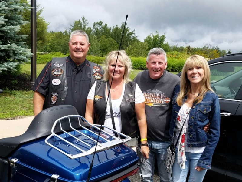 Visitors from Montreal crossed the border and enjoyed the Iron Adventure rally. They include Nathalie LaFond, Jean-Pierre Tremblay, Bernard Deschamps, and Josee Cournoyer.