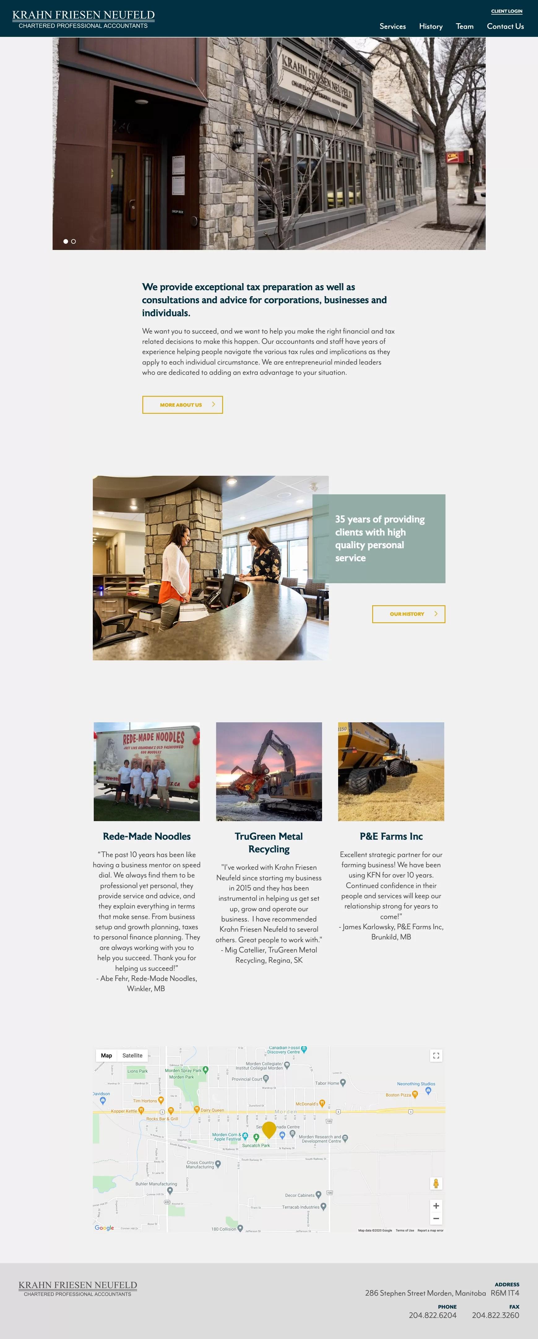 KFN homepage desktop