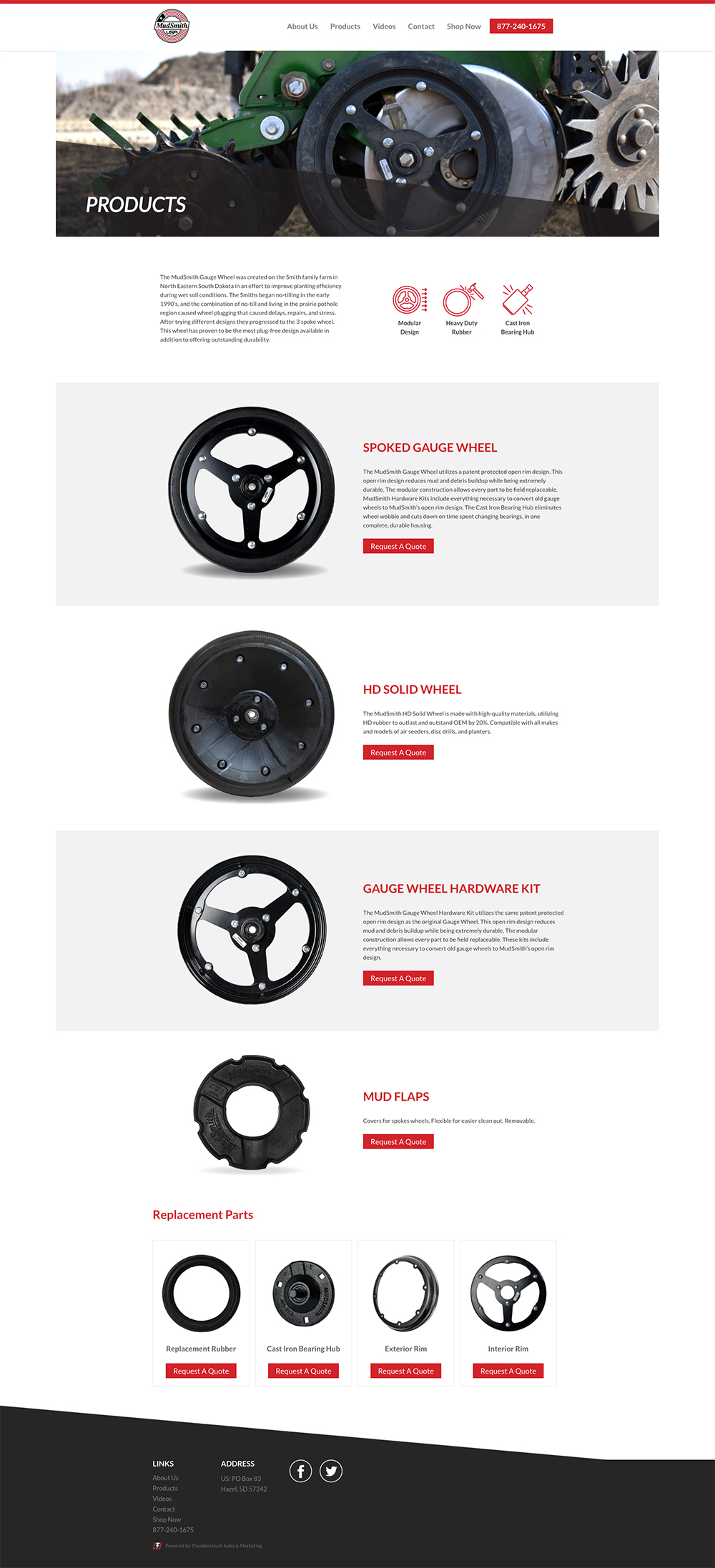Our Product MudSmith Gauge Wheels