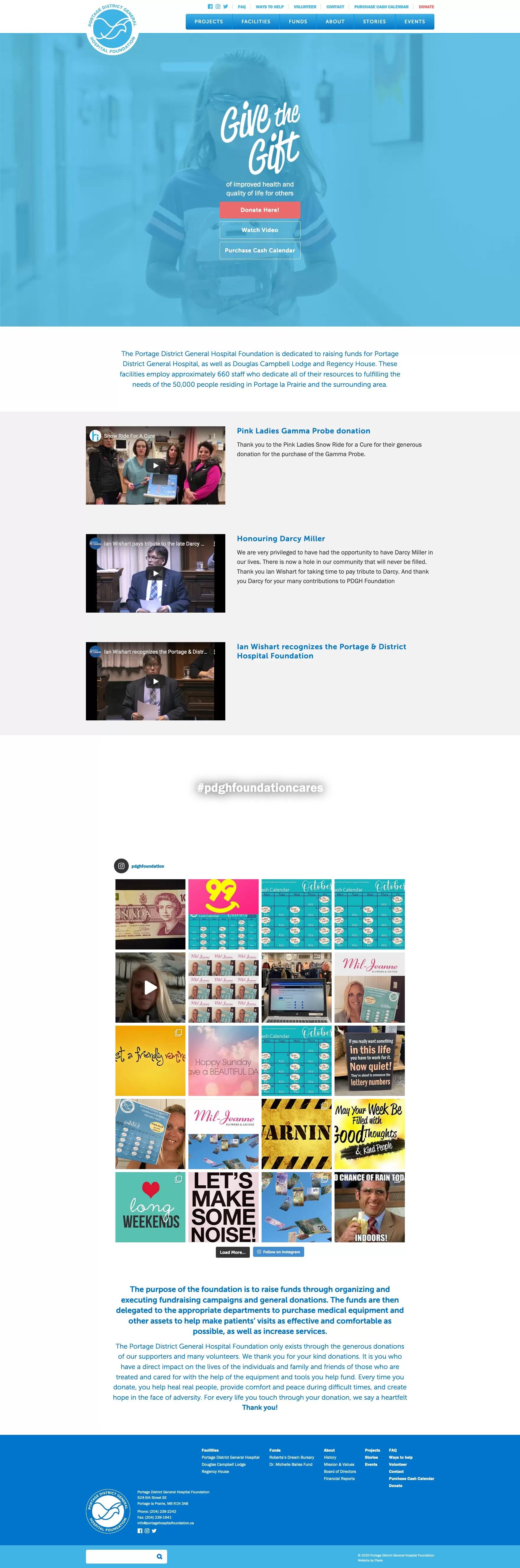 PHF Homepage Desktop