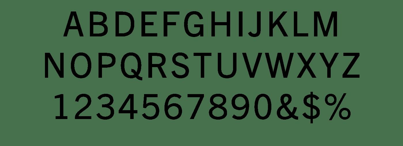 TradeGothic TypeSpec