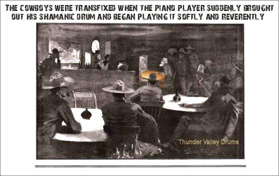 cowboys listening to shamanic drumming