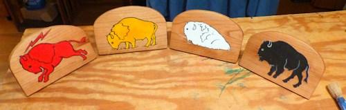 Four Buffaloes
