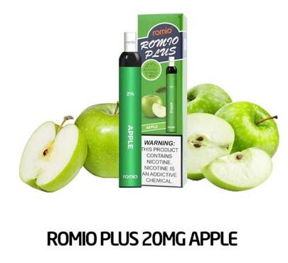 Pod 1 lần Romio Plus apple vị táo xanh- Thuốc Lá Xanh