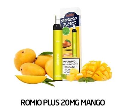 Pod 1 lần Romio Plus Mango vị xoài- Thuốc Lá Xanh