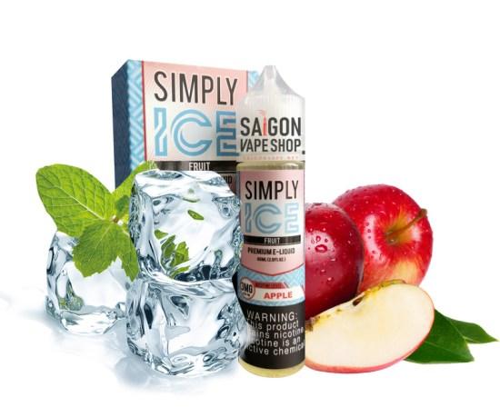 Tinh- Dầu -Mỹ- Simply -Ice-Thuoc-La-Xanh-vị táo