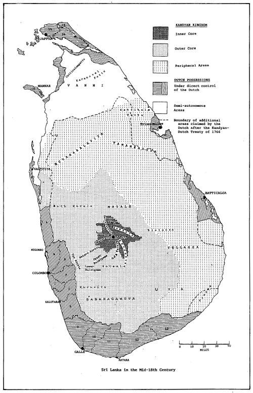 MAP 6--SriLanka 18thc