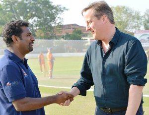 Murali and Cameron-