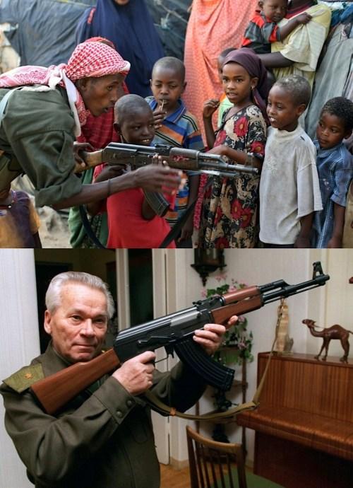 AK 47 AND KALSHNIKOV