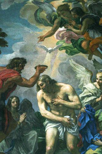 Baptism of Jesus Christ by Maratta, 1698