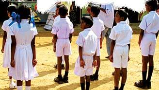 children at an them -island