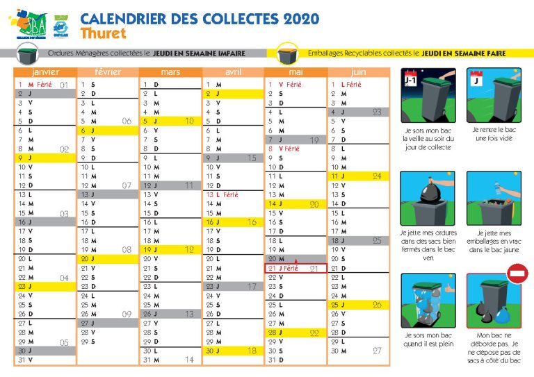 Calendrier Collecte Sba 2022 SBA – Thuret