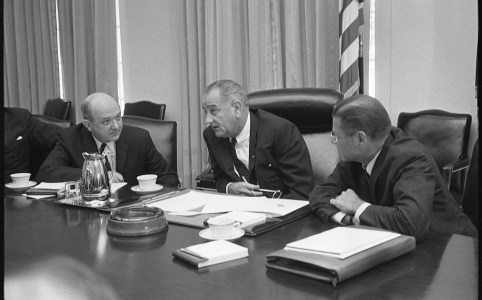 Johnson, McNamara, Rusk in July 1965