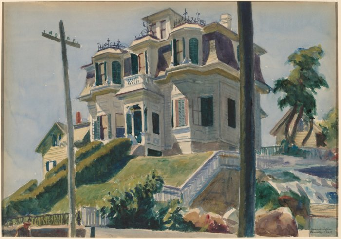 Edward Hopper, Haskell's House, American, 1882 - 1967, 1924, watercolor over graphite on paperboard, Gift of Herbert A. Goldstone. National Gallery of Art.