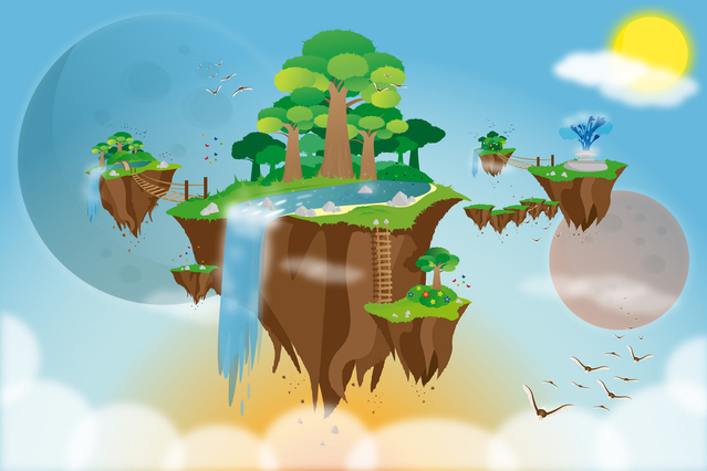 Utopia as a Floating Island. Image by Pawel Ochota