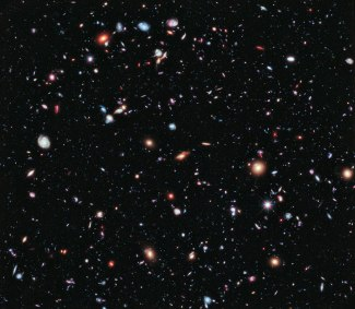 Galaxies - over 5500 - Hubble eXtreme Deep Field - in the constellation of Fornax