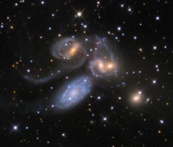 Stephan's Quintet - violent collisions going on. Info online.