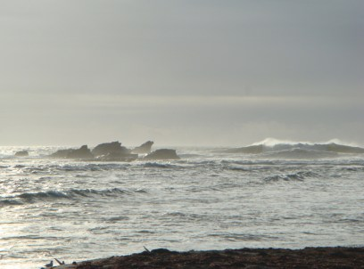 Rocks and Waves off Pillar Point - m