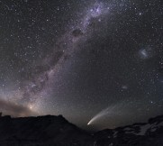 Three Galaxies and a Comet
