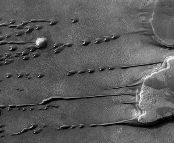 Flowing Barchan Sand Dunes on Mars