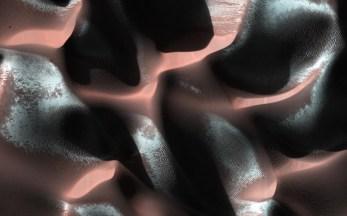 Mars Sand Dunes with Ice