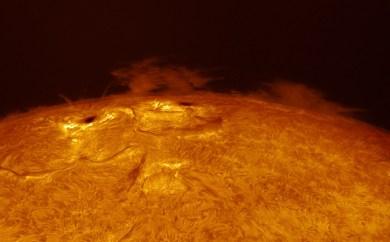 Two sunspots - pic taken by Sergio Castillo in his backyard in Corona, CA