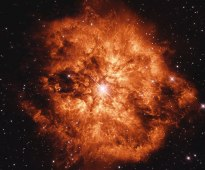 Wolf-Rayet Star 124 - slowly blowing itself apart over the past 20,000 years - more info at http://apod.nasa.gov/apod/ap140701.html