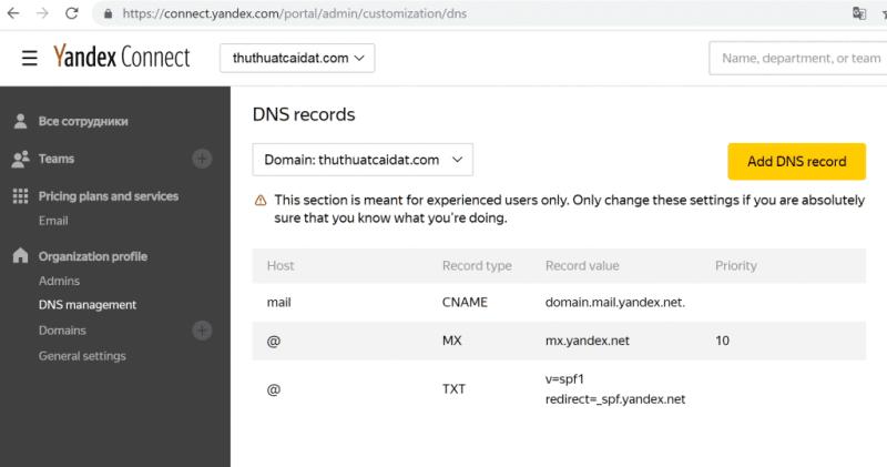 Đăng ký Yandex để tạo Email Tên Miền Miễn Phí 4