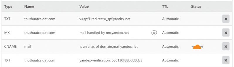 Đăng ký Yandex để tạo Email Tên Miền Miễn Phí 5
