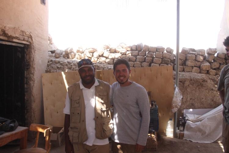 Juan Antonio Hernandez y Mohamed Abd El-Uares Salem en yacimiento de Tutmosis III