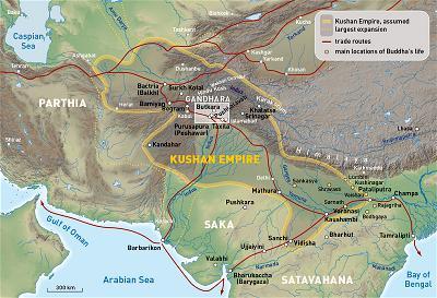 The Kushan Empire at the time of Kanishka