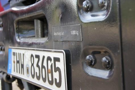 Kennzeichen Lastschild E-LKW