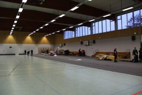 Aufbau Notunterkunft Berlin