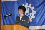 Die THW-Ortsbeauftragte Hedwig Karkut eröffnet die Jahresauftaktfeier