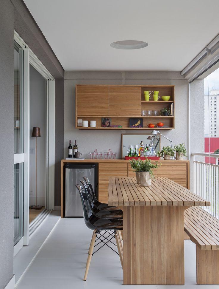 varanda pequena com espaço gourmet