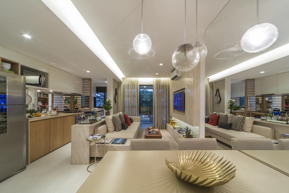 Ambiente Integrado - Arquiteta: Fernanda Marques