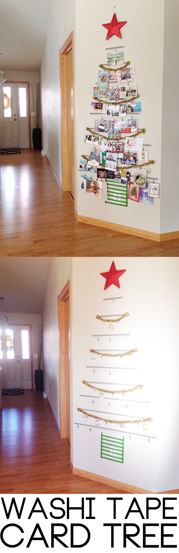 Washi Tape Tree! A festive way to organize all of your holiday cards...